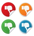 Dislike sign icon Hand finger down symbol vector image