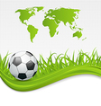 Football card with ball for Brazil 2014 vector image