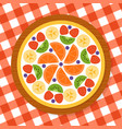 fruit pizza for party vector image