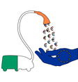 Irish Euro vacuum cleaner vector image