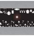 lighting in showroom eps10 vector image