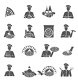 Pizza Maker Icons vector image