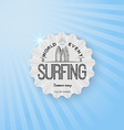Surf badges logos and labels for any use vector image