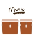 timbal instrument isolated icon design vector image