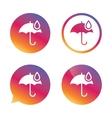 Umbrella sign icon Water drop symbol vector image