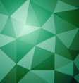 Abstract green polygon triangle background vector image vector image
