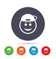 smile rapper face icon smiley symbol vector image