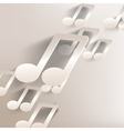 paper background with music web iconflat design vector image