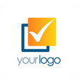 check mark square logo vector image
