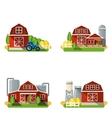 Farm Flat Set vector image
