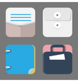Four Flat Icons of web and mobile applications vector image