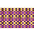 Abstract geometric seamless pattern purple yellow vector image