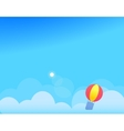 Background with Clouds Balloon and Sun vector image