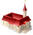 church building vector image