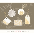 Collection of cute Tags vector image
