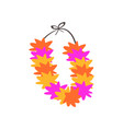 colorful necklace lei with bright colorful vector image