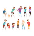 laugh people icon set vector image