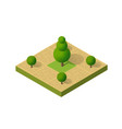 natural ecological landscape isometric icon city vector image