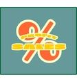 Sales grow up sticker vector image