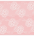 Two Lace Ribbons Seamless white floral tape on a vector image