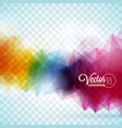abstract geometric triangles design on vector image vector image