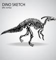 Dinosaur Sketch vector image