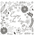 Beautiful enjoy the day concept floral card vector image vector image