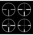 Crosshairs icons vector image
