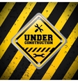 Under construction tools design vector image