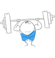 Weightlifting vector image vector image