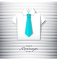 origami shirt with tie vector image vector image
