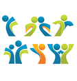 abstract sportive people vector image vector image