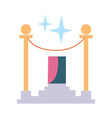 Award rope barrier icon vector image