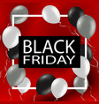 black friday sale background template sale poster vector image
