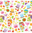 fruit juice drink cute cartoon gift wrapping desig vector image