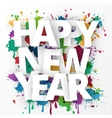 Happy new Year celebration 2016 vector image