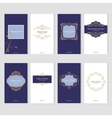 Luxury vintage card templates set vector image