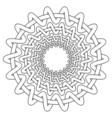 Nordic ethnic circular pattern vector image