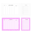 Temlape for print Weekly planner and to do list vector image