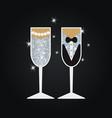 wedding glasses wedding glasses vector image