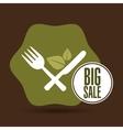big sale restaurant vegan food healthy vector image