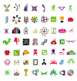 collection of icons of furniture vector image