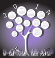 Tree calendar for 2014 year with circles vector image vector image