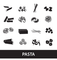 types of pasta food eps10 vector image