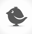 black bird icon vector image vector image