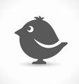 black bird icon vector image