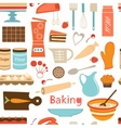 Baking wallpaper vector image vector image