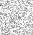 Hand drawn Bakery Seamless Pattern vector image