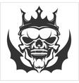 King skull wearing crown vector image