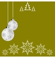 Christmas ball postcard Christmas Greeting card vector image